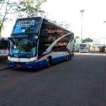Bus to Koh Phangan outside Surat Thani Railway Station
