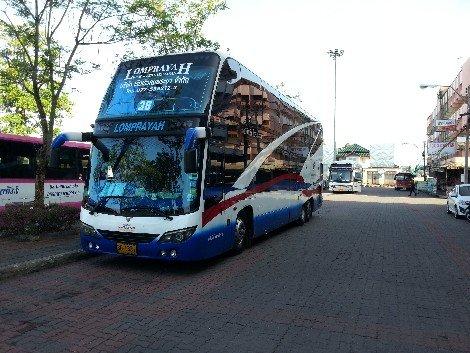 Lomprayah bus from Surat Thani to Koh Samui