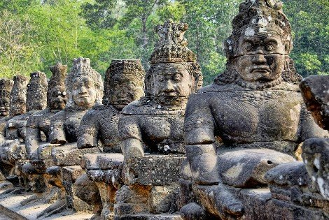 Angkor Wat is next to Siem Reap