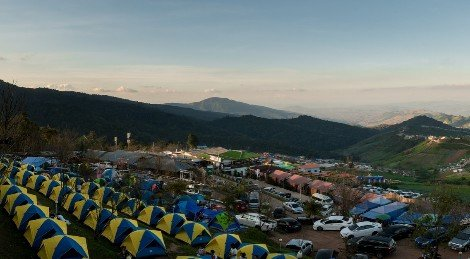 Hilltop camping at Phu Thap Boek in Phetchabun