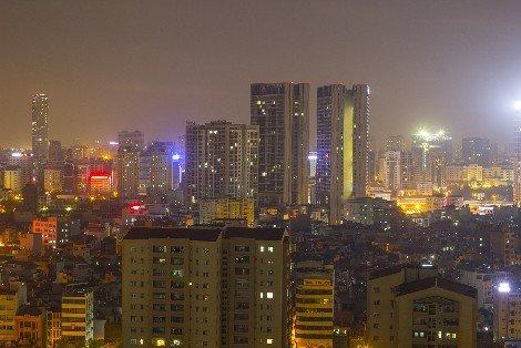 Modern Hanoi at night