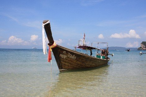 Travel to Koh Ngai in longtail boat