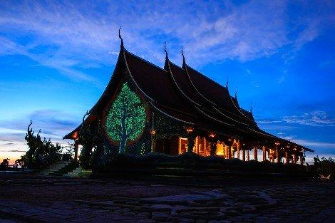 Wat Sirintorn Wararam in Ubon Ratchathani