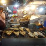 Fish and lobster on the grill at Hua Hin Night Market