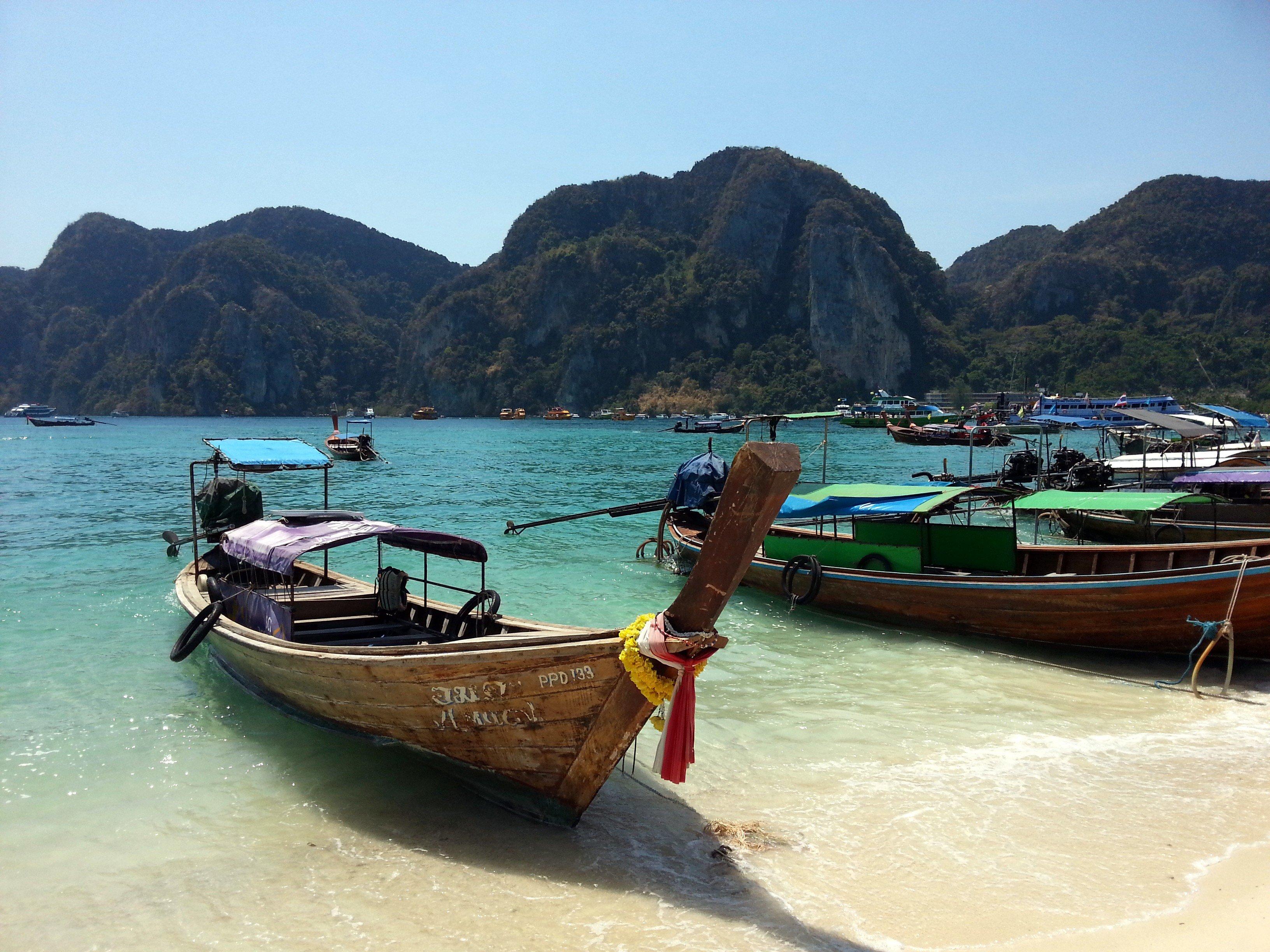 Longtail boat in Koh Phi Phi