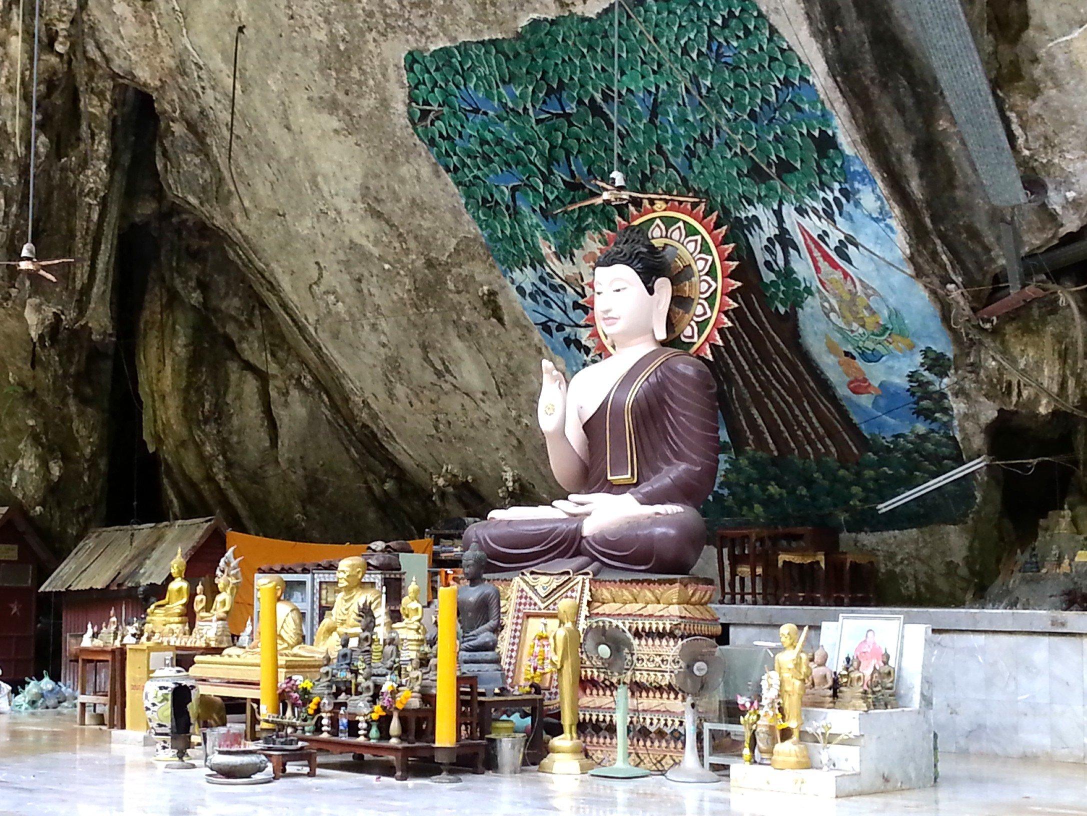 Shrine at the Tiger Cave Temple in Krabi