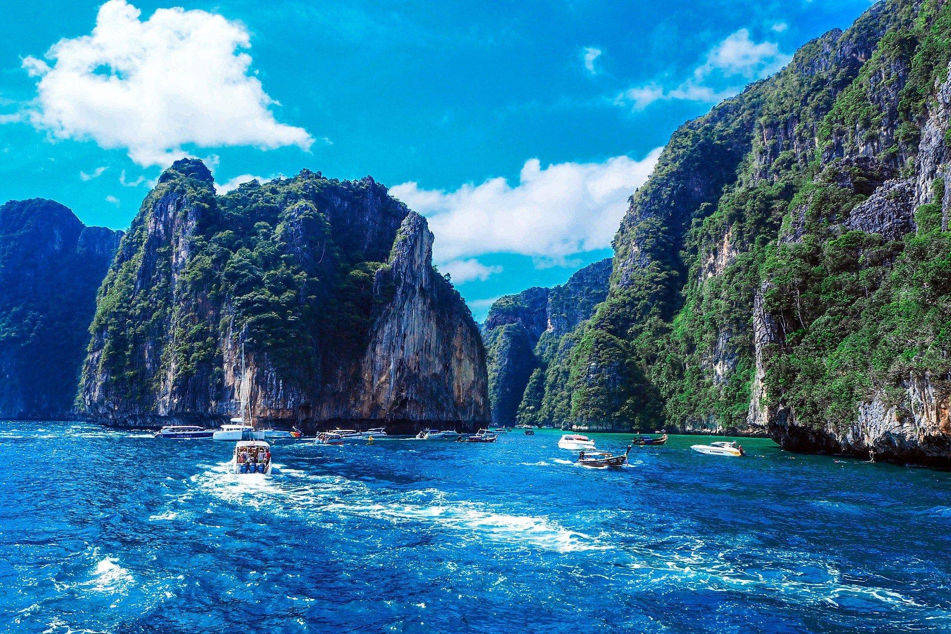 Spectacular scenery in Koh Phi Phi