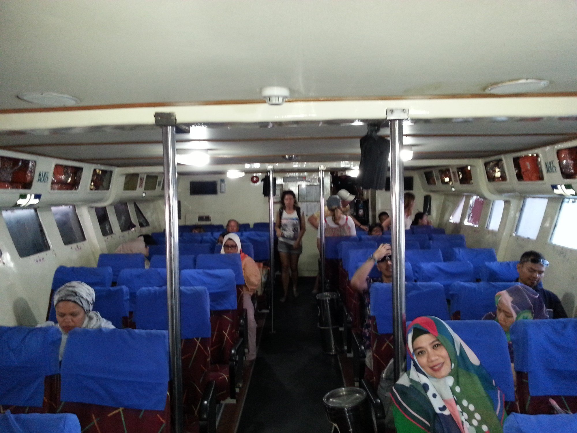 Inside the Koh Lipe to Langkawi ferry