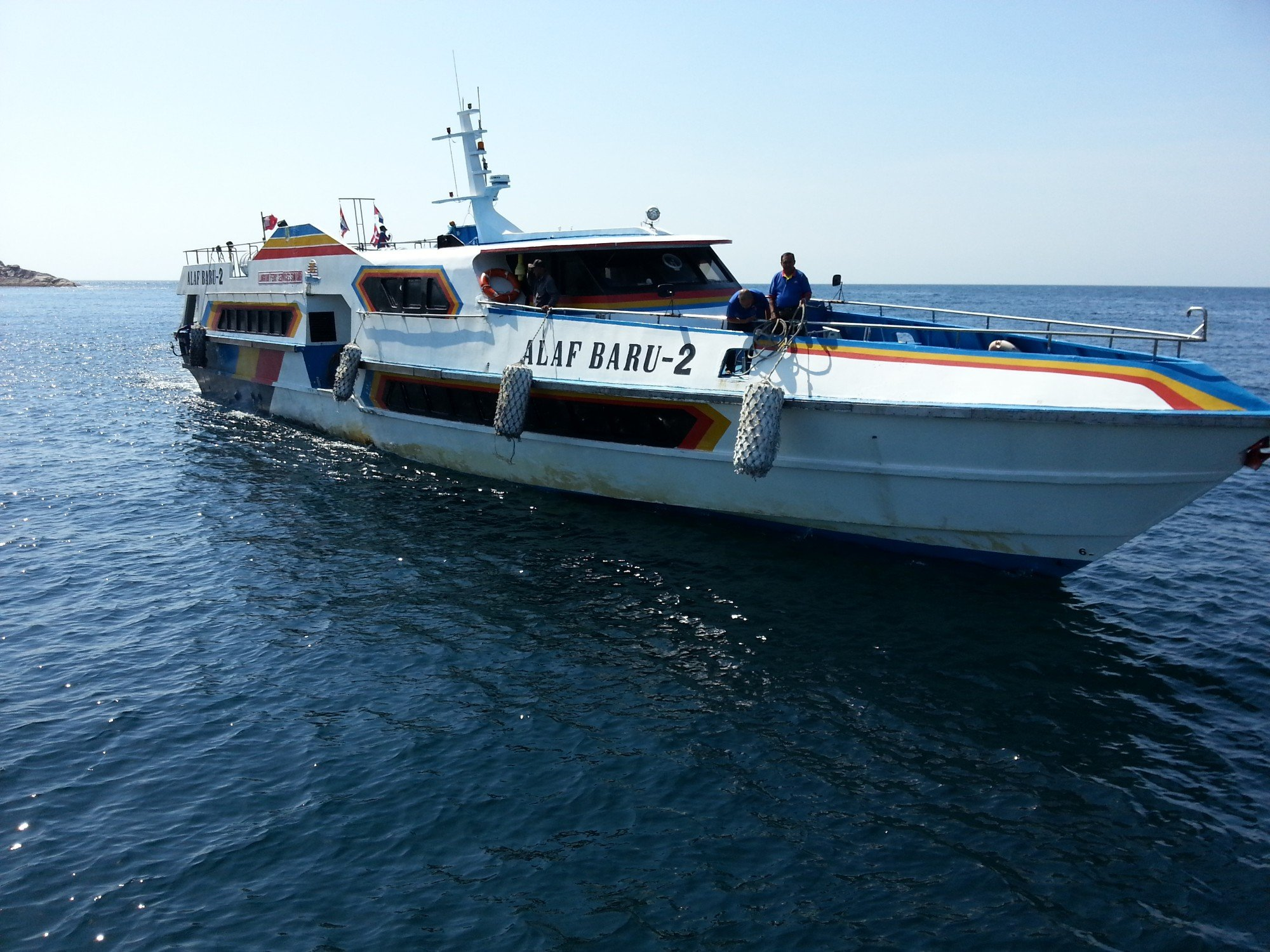 Koh Lipe to Langkawi ferry arriving at Koh Lipe