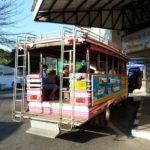 Pink shared taxi at Phuket Bus Terminal 1