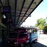Pink shared taxi at Phuket Bus Terminal 2