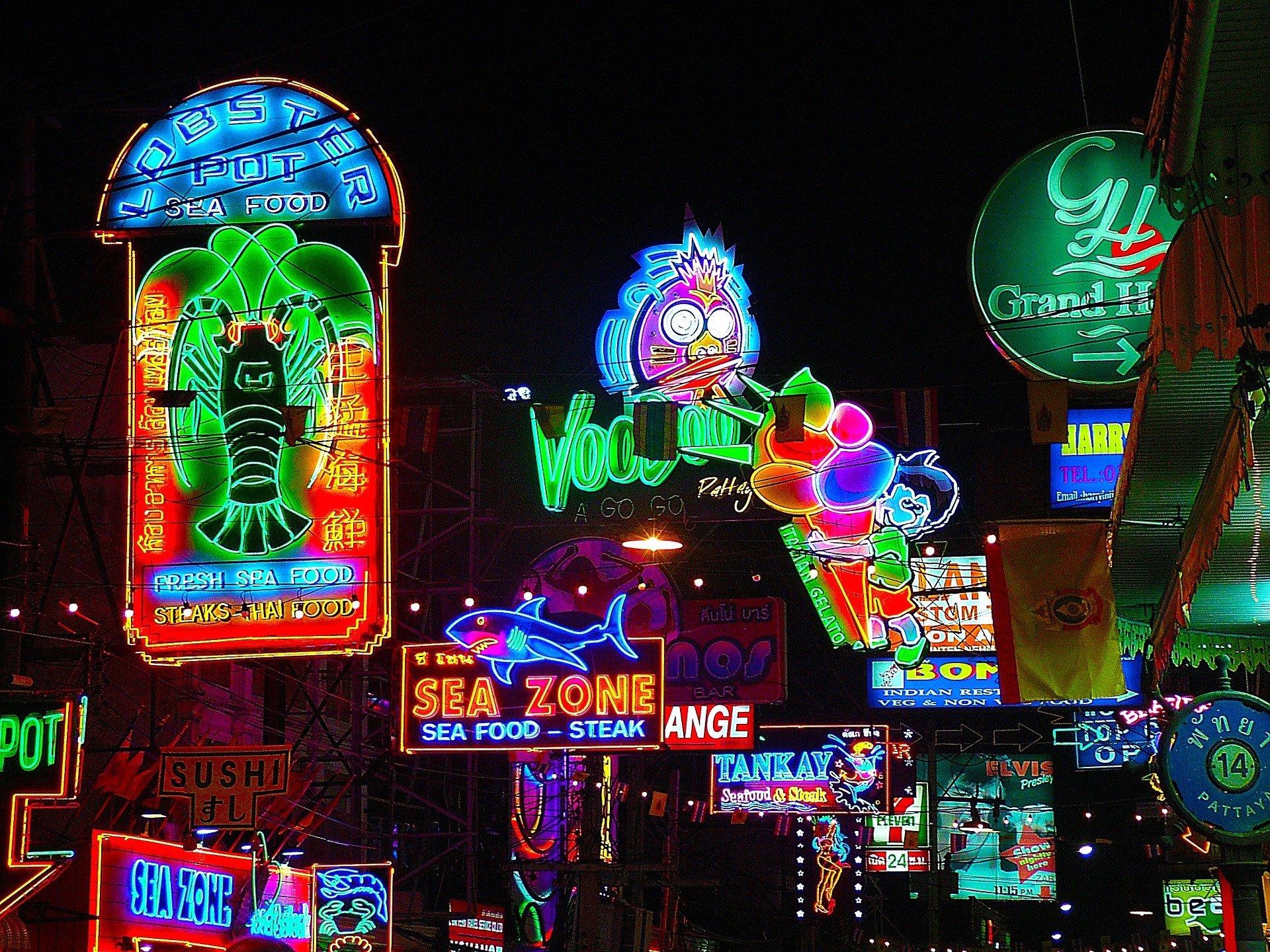 Neon signs in Pattaya City