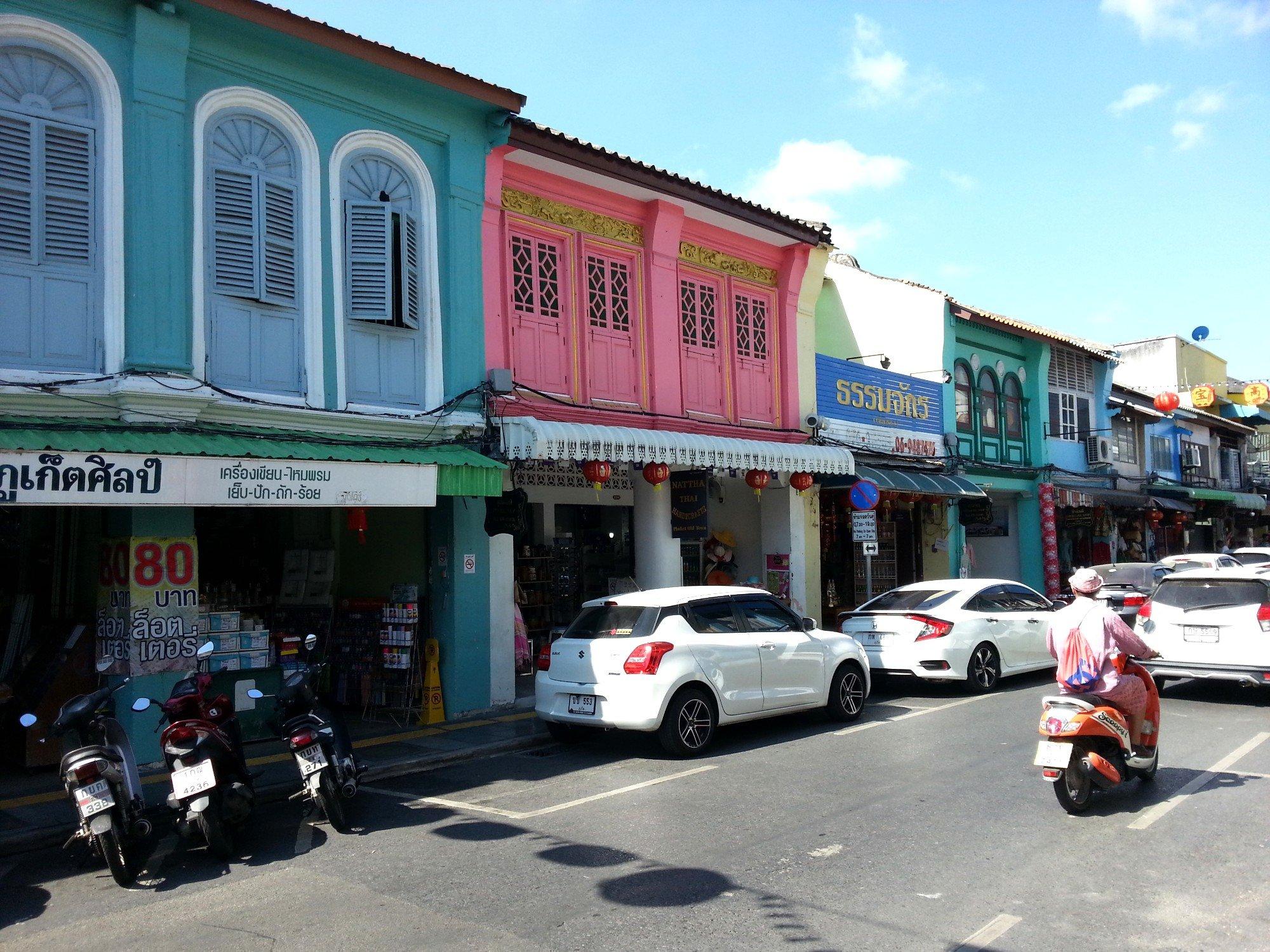 Thalang Road in Phuket Town