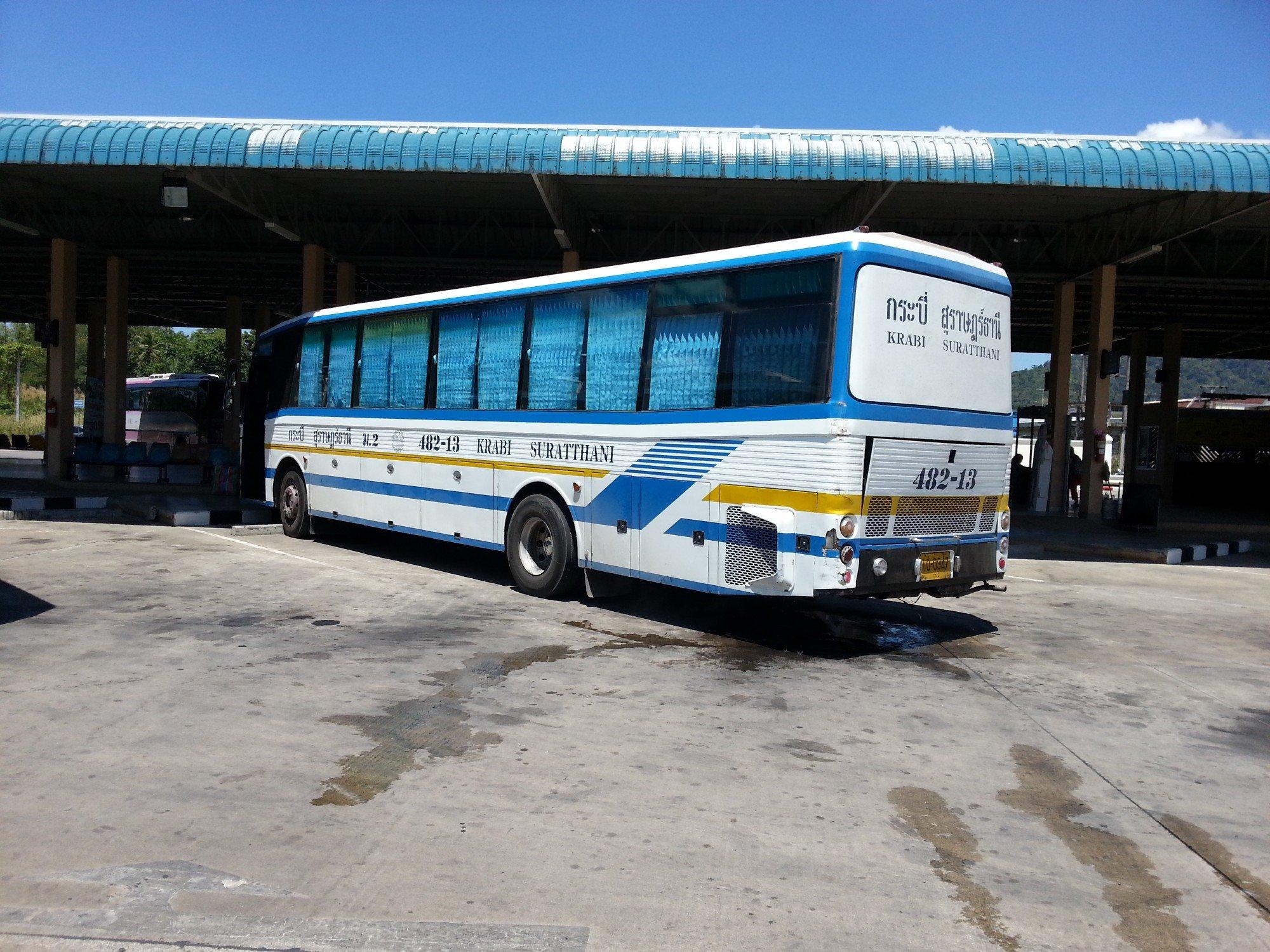 Bus at Krabi Bus Terminal