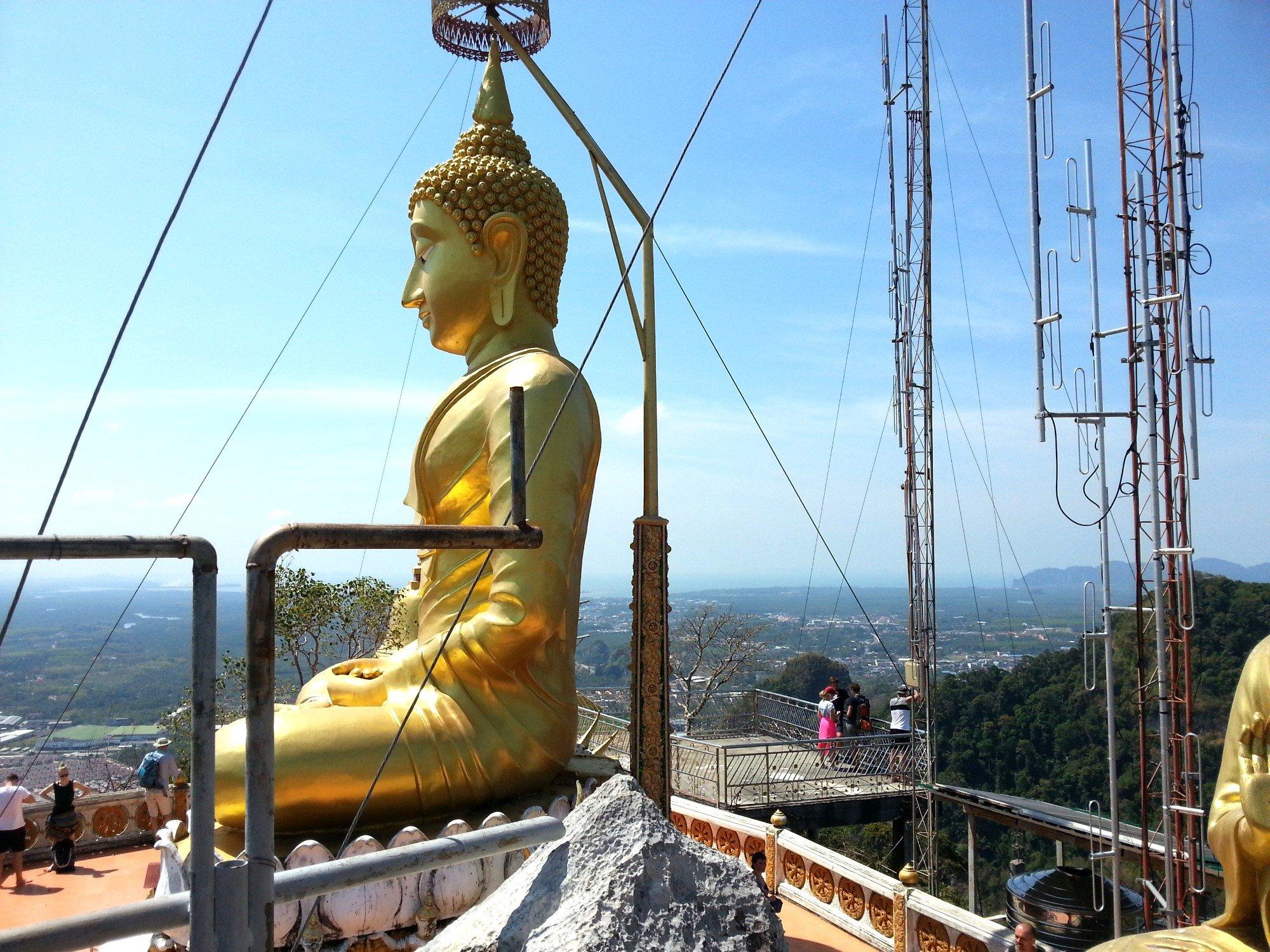 Hill top shrine at Wat Tham Suea in Krabi