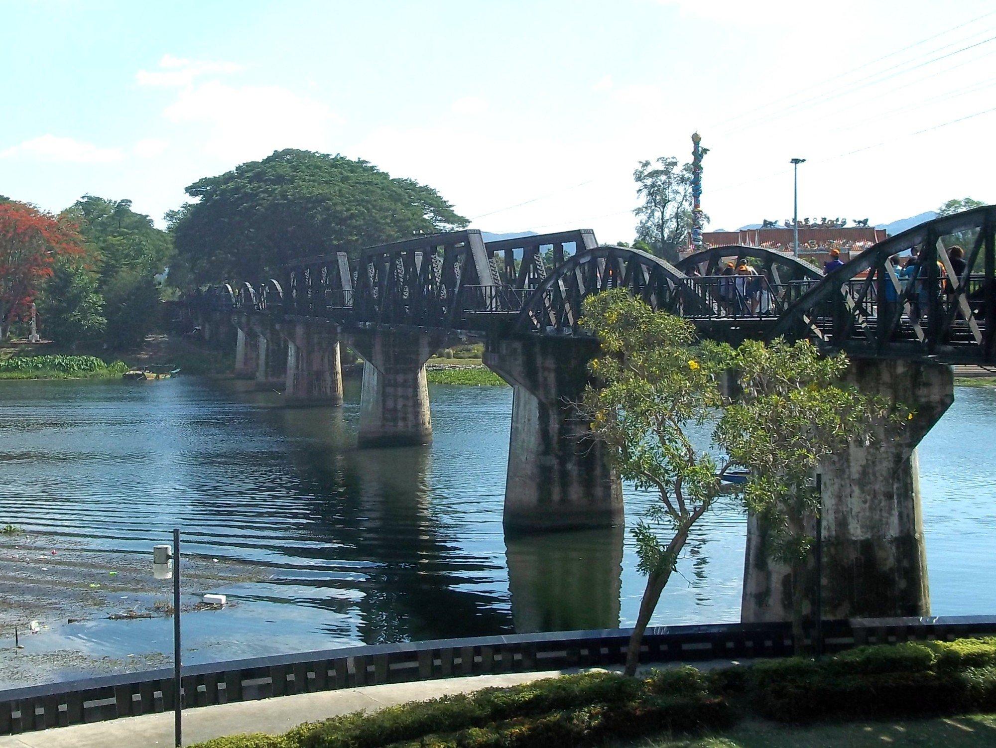 Bridge over the River Kwai in Kanchanaburi