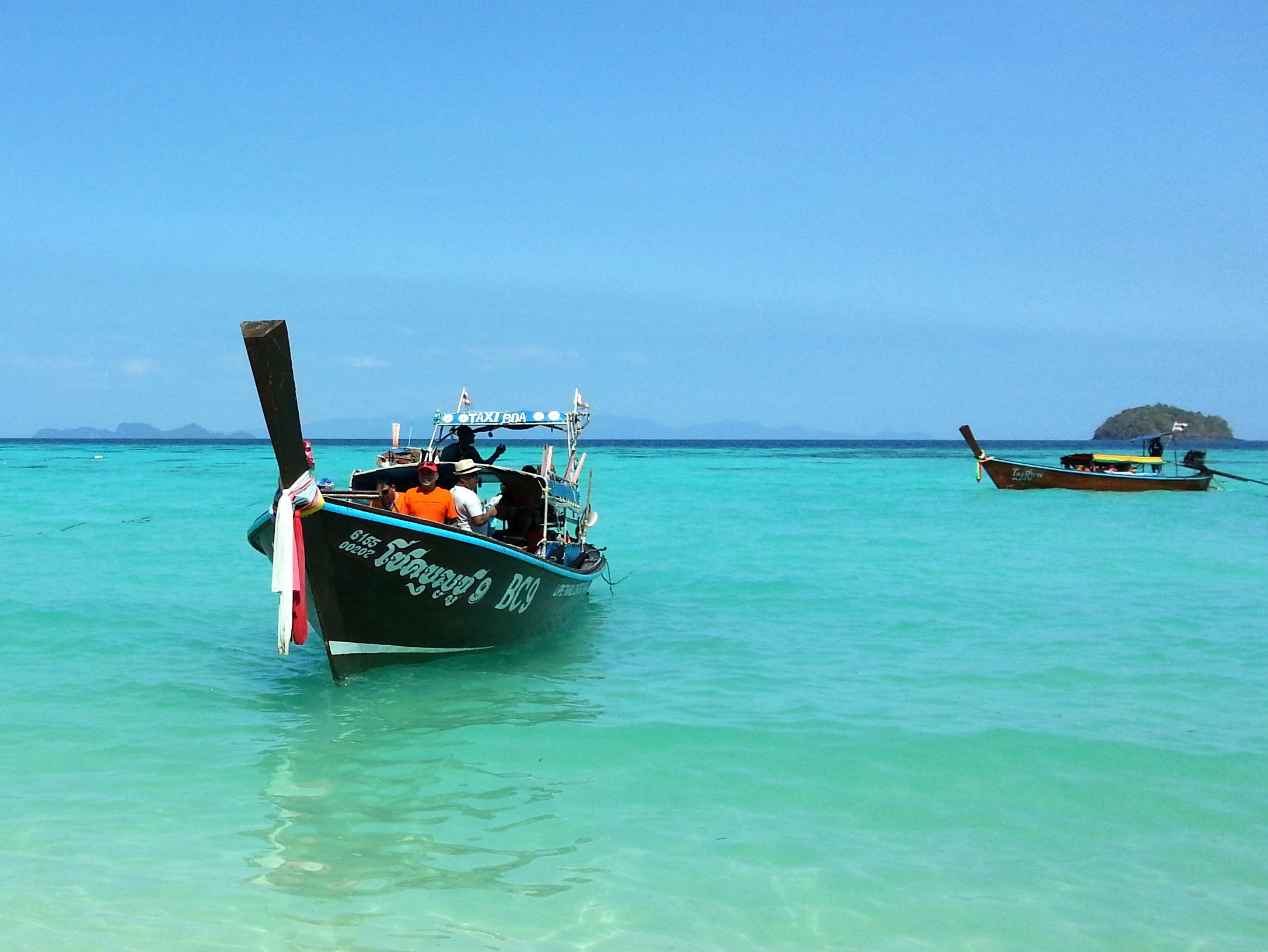 Longtail boat services to Koh Libong and Koh Muk depart from a pier near Trang